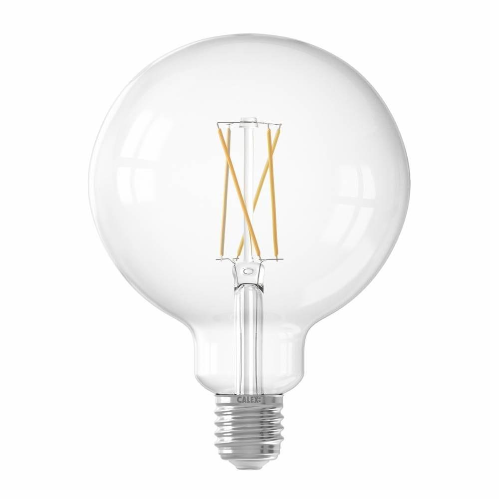 Ampoule Smart LED Filament claire Globe G125 E27 7,5W 1055lm 1800-3000K