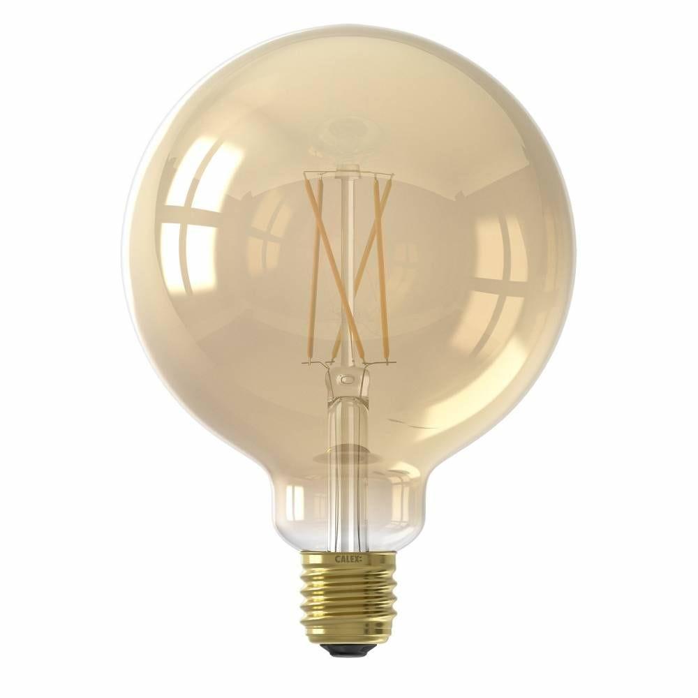 Ampoule Smart LED Filament ambrée Globe G125 E27 7W 806lm 1800-3000K