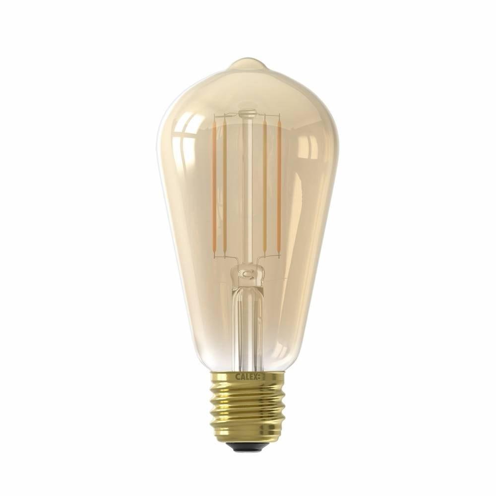 Ampoule Smart LED Filament ambrée Rustic STD ST64 E27 7W 806lm 1800-3000K