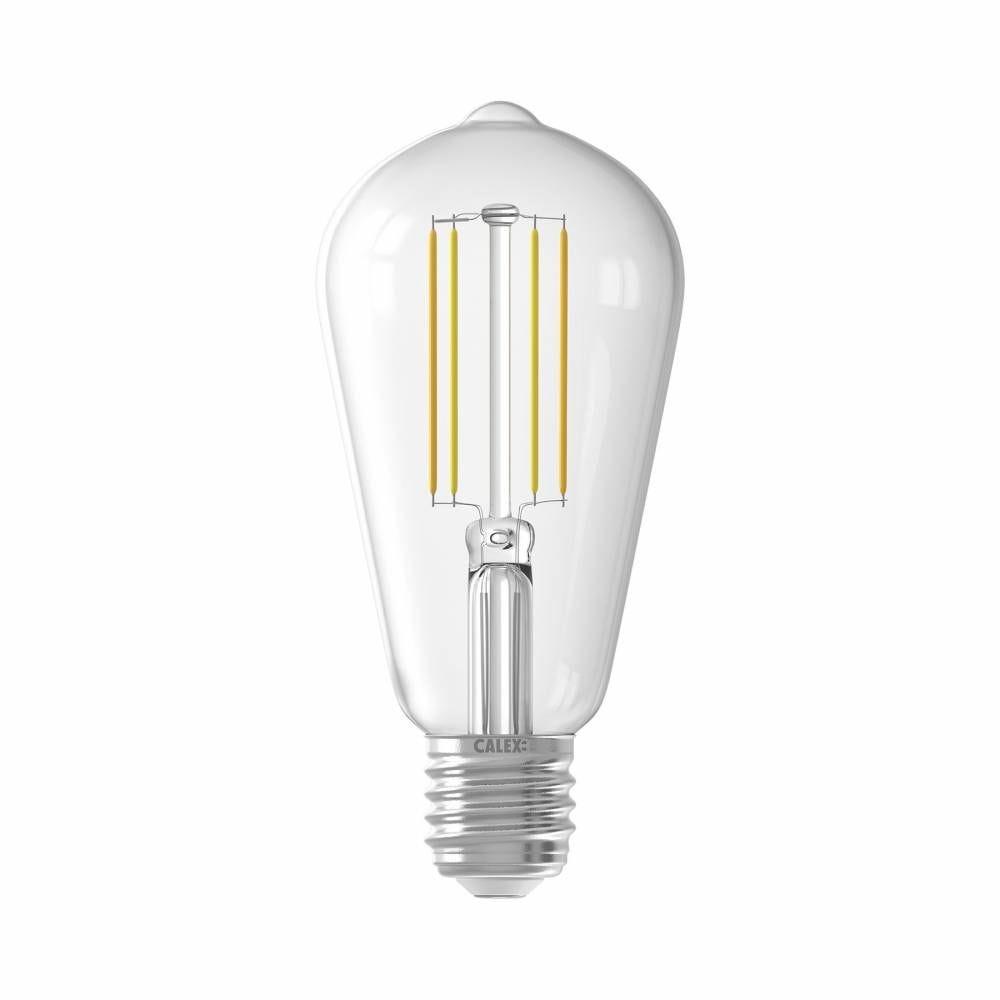 Ampoule Smart LED Filament claire Rustic Standard E27 7W 806lm 1800-3000K