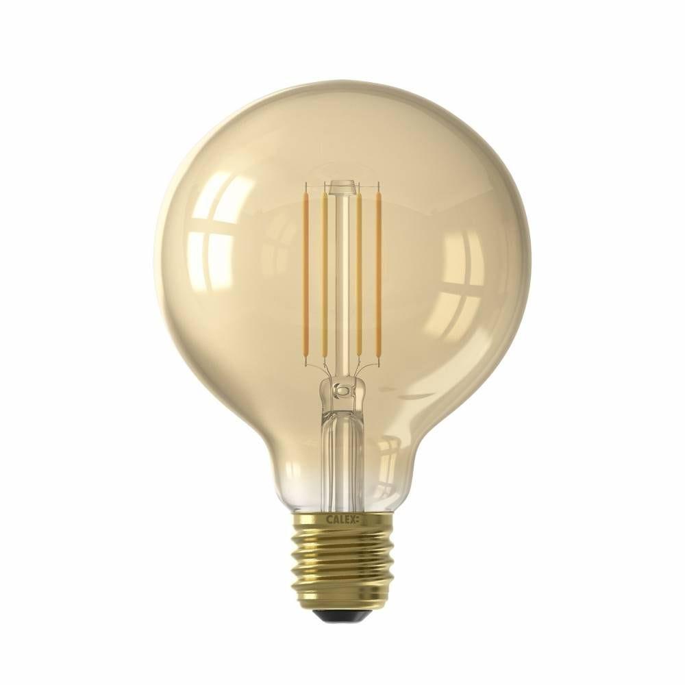 Ampoule Smart LED Filament ambrée Globe G95 E27 7W 806lm 1800-3000K