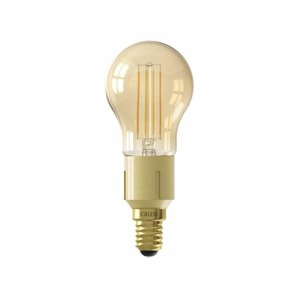 Ampoule Smart LED Filament ambrée sphérique E14 4,5W 400lm 1800-3000K
