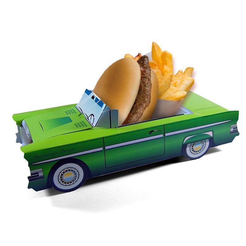 Boîte menu enfant Cadillac Vert - lot de 300