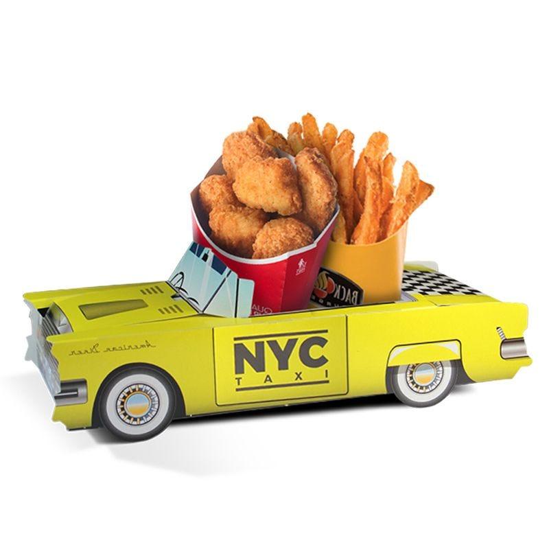 Boîte menu enfant Cadillac Taxi NYC - lot de 300