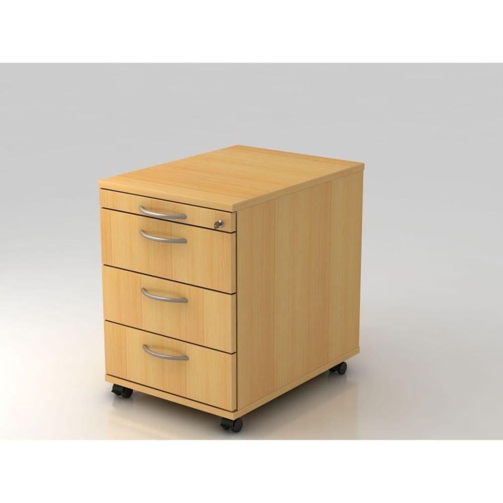 Caisson de bureau contemporain 3 tiroirs Londonien / Hêtre