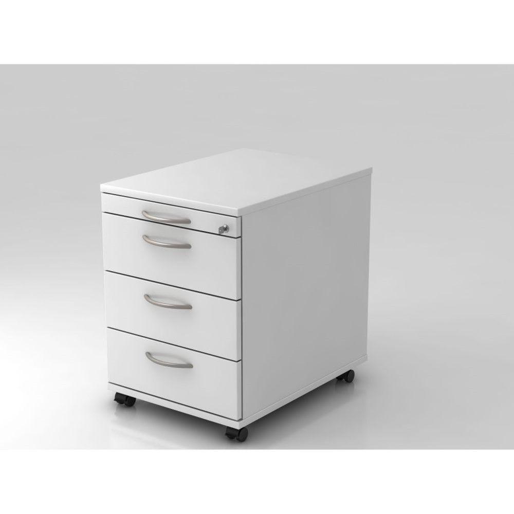 Caisson de bureau contemporain 3 tiroirs Londonien / Blanc
