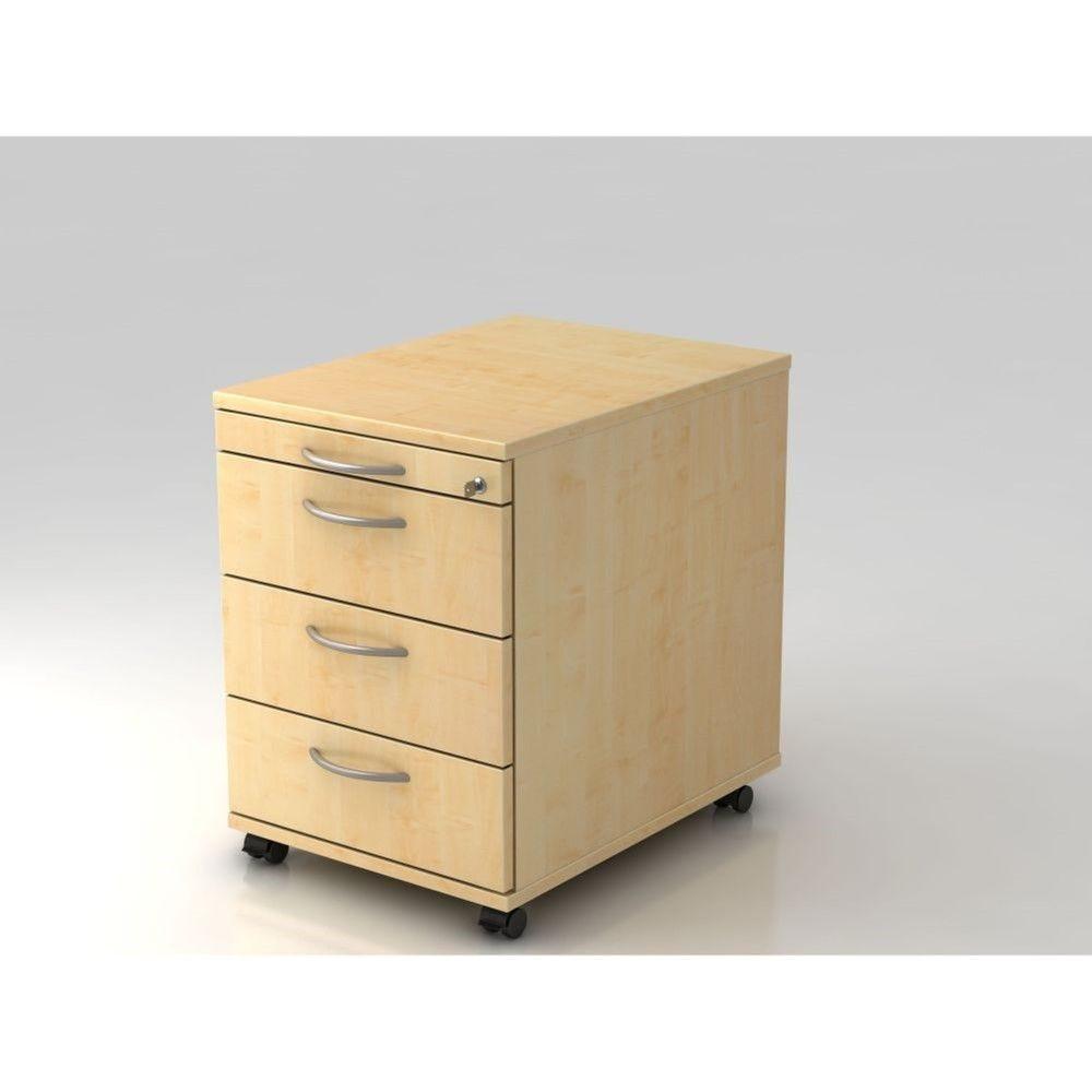 Caisson de bureau contemporain 3 tiroirs Londonien / Erable