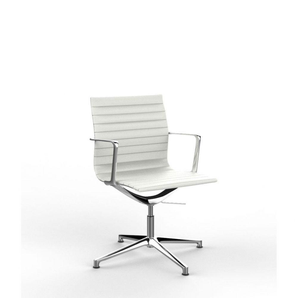 Fauteuil de direction design en PU Nolane II / Blanc