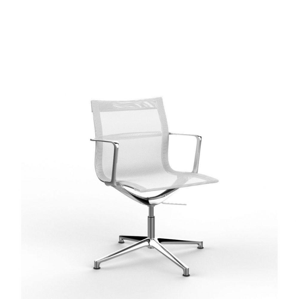 Fauteuil de direction design en tissu Nolane II / Blanc