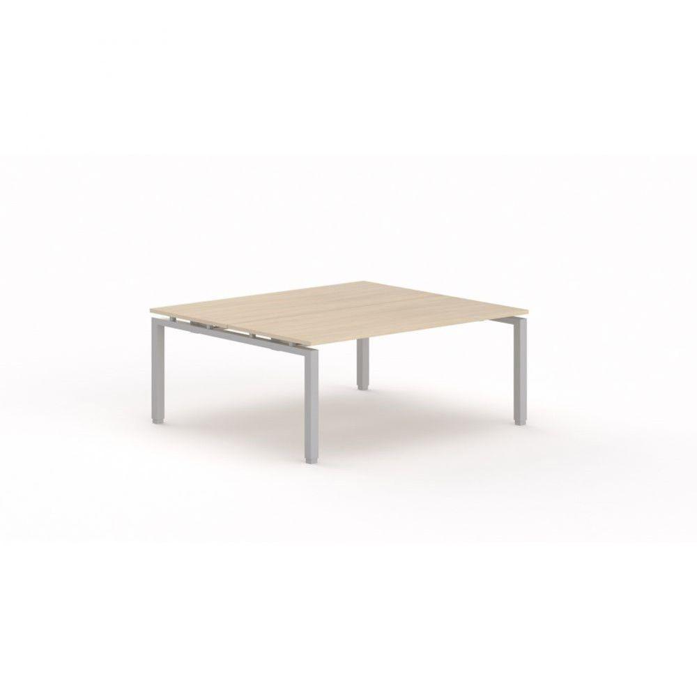 Bureau bench contemporain Zelda / Chêne moyen / Longueur 180 cm / Pieds argenté