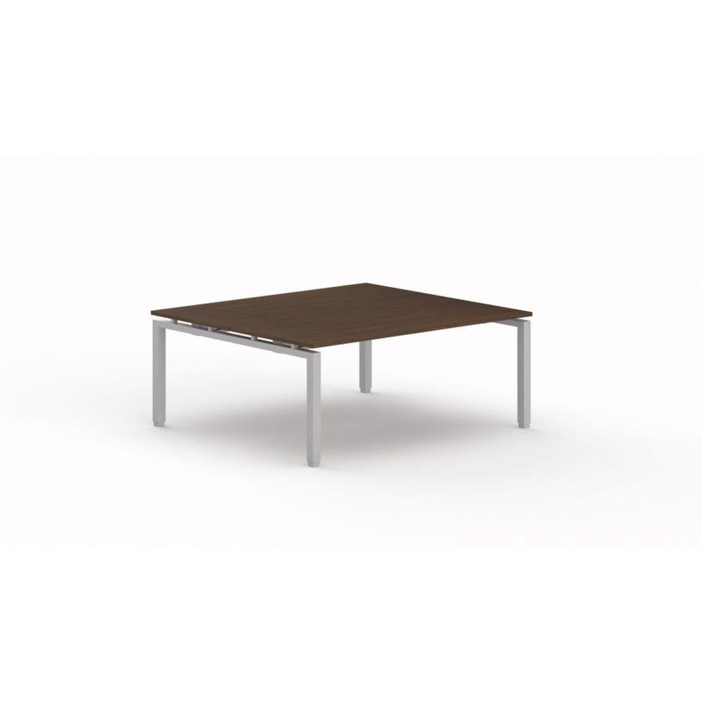 Bureau bench contemporain Zelda / Zebrano / Longueur 180 cm / Piétement argenté