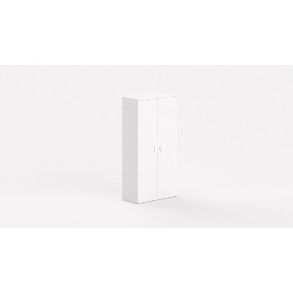 Armoire de bureau contemporaine Opaline / Blanc / Hauteur 197 cm