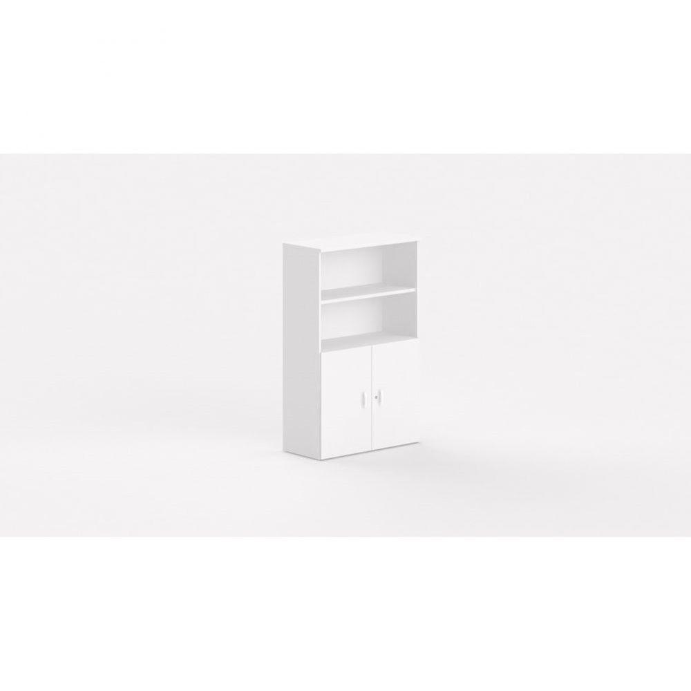 Armoire de bureau contemporaine Opaline I / Blanc / Hauteur 159 cm
