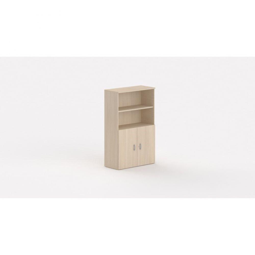Armoire de bureau contemporaine Opaline I / Chêne moyen / Hauteur 159 cm