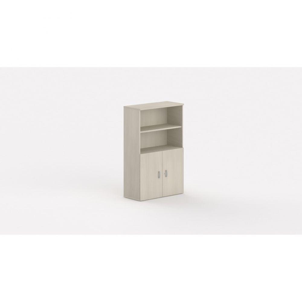 Armoire de bureau contemporaine Opaline I / Acacia clair / Hauteur 159 cm