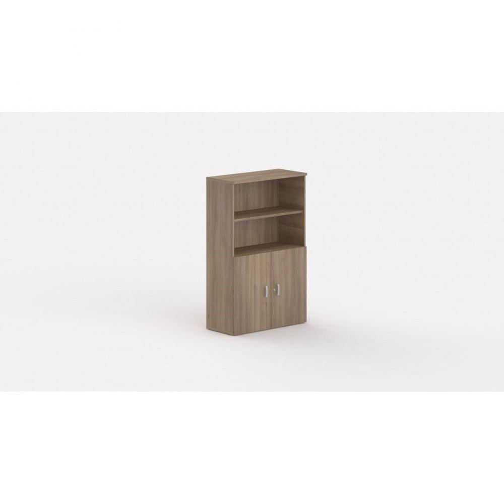 Armoire de bureau contemporaine Opaline I / Acacia foncé / Hauteur 159 cm