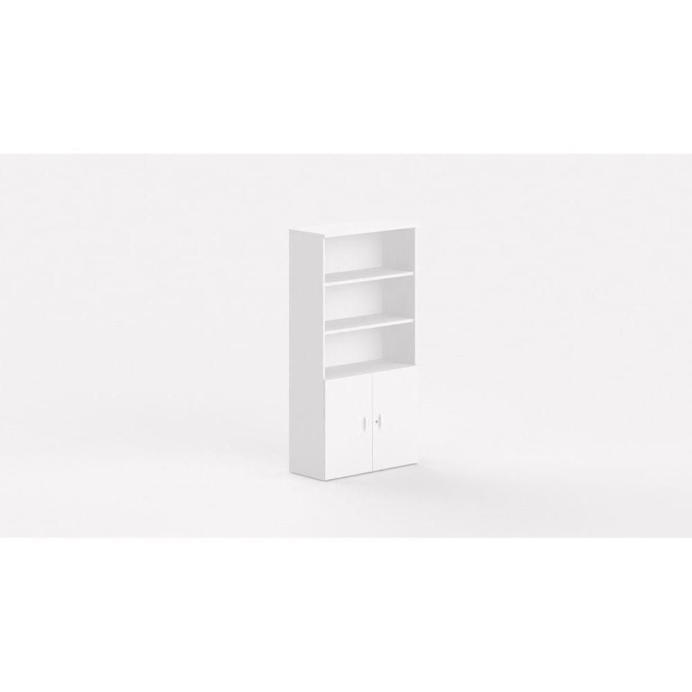 Armoire de bureau contemporaine Opaline I / Blanc / Hauteur 197 cm