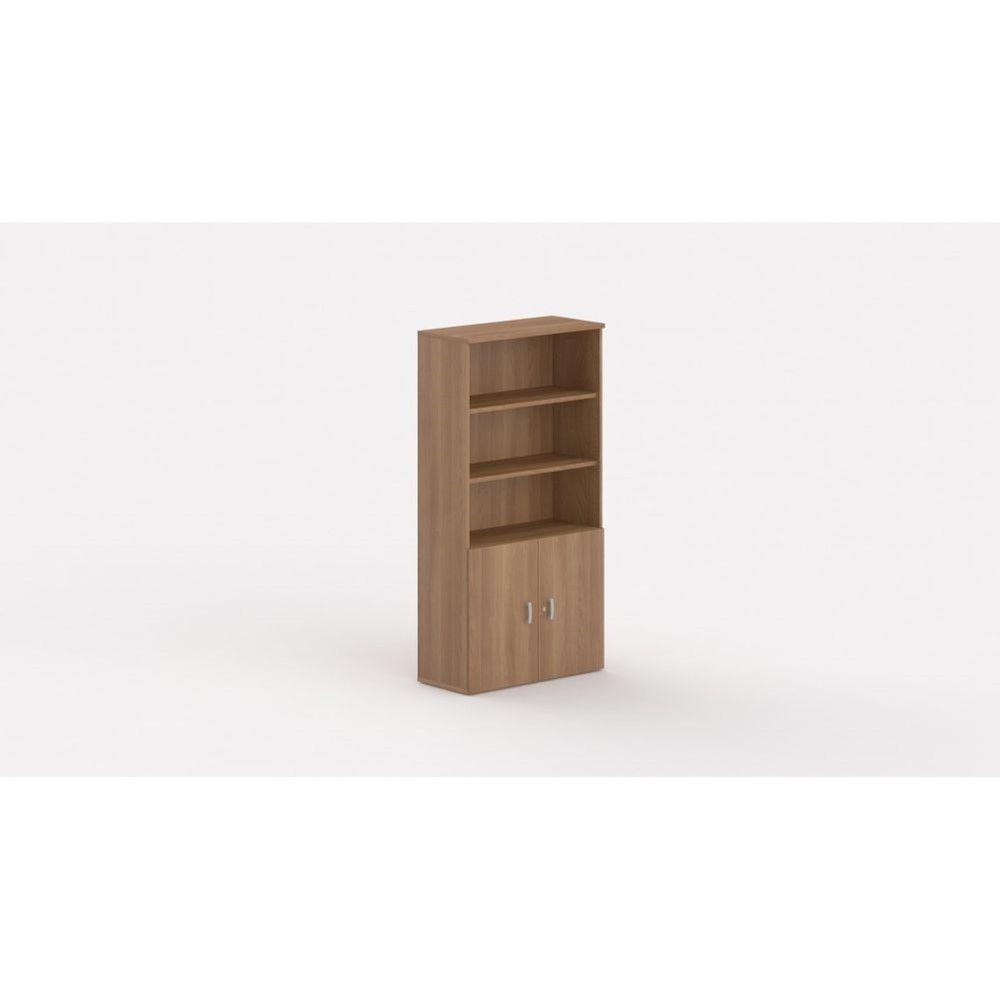 Armoire de bureau contemporaine Opaline I / Poirier / Hauteur 197 cm