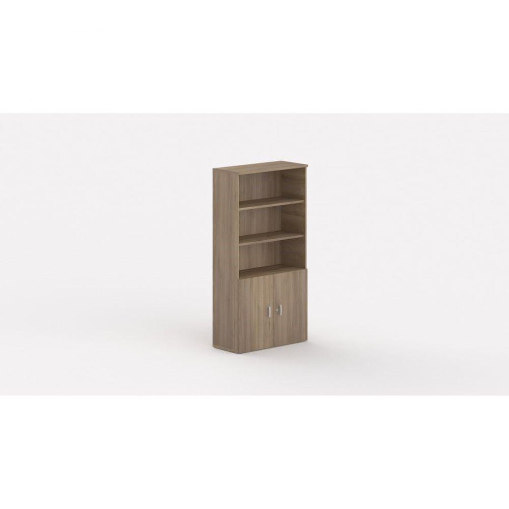 Armoire de bureau contemporaine Opaline I / Acacia foncé / Hauteur 197 cm