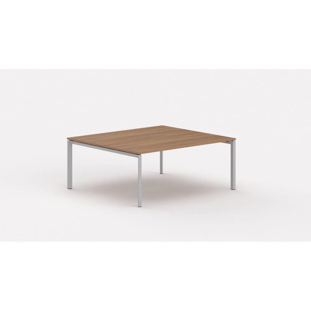 Bureau bench contemp.2 personnes Regis Poirier Longueur 180 cm Pieds argenté