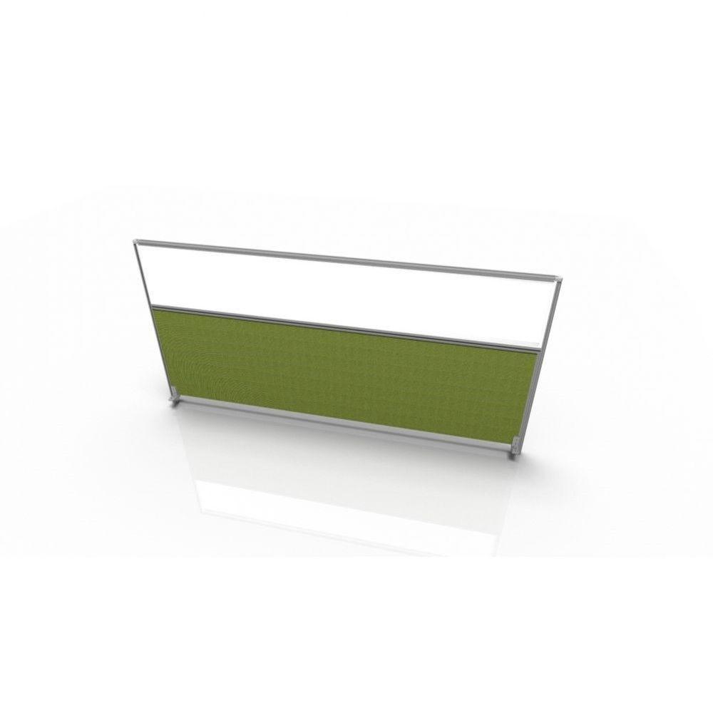 Cloisonnette frontale pour bureau individuel en tissu Regis Vert Longueur 140 cm