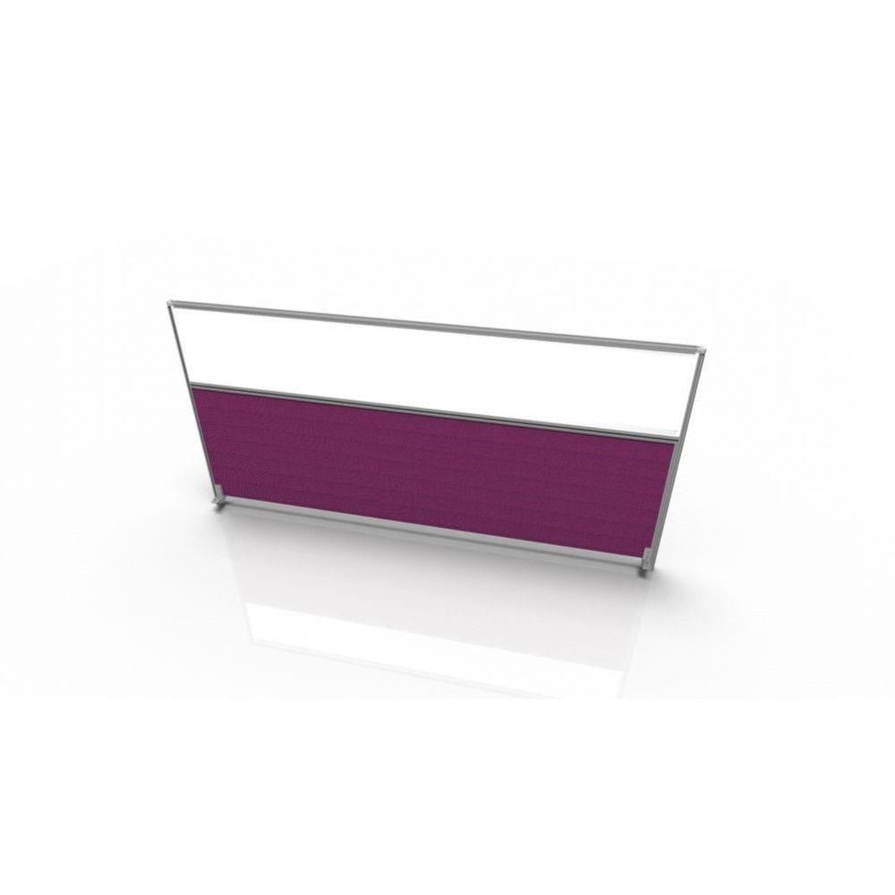 Cloisonnette frontale pour bureau individuel en tissu Regis Violet L100 cm