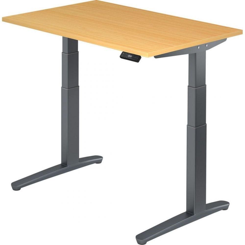 Bureau assis-debout électrique Frida / Hêtre / Longueur 120 cm / Graphite