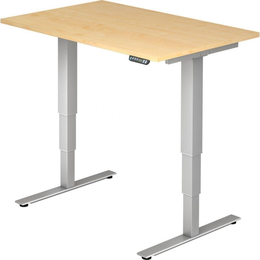 Bureau assis-debout électrique Barbara II / Erable / Longueur 120 cm