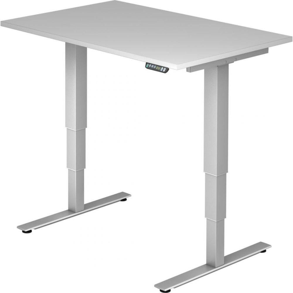 Bureau assis-debout électrique Barbara II / Gris / Longueur 120 cm