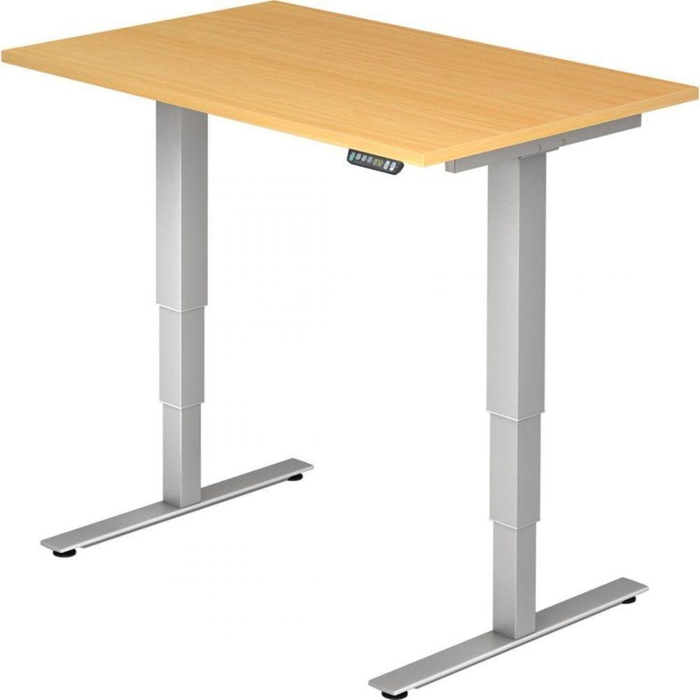Bureau assis-debout électrique Barbara II / Hêtre / Longueur 120 cm