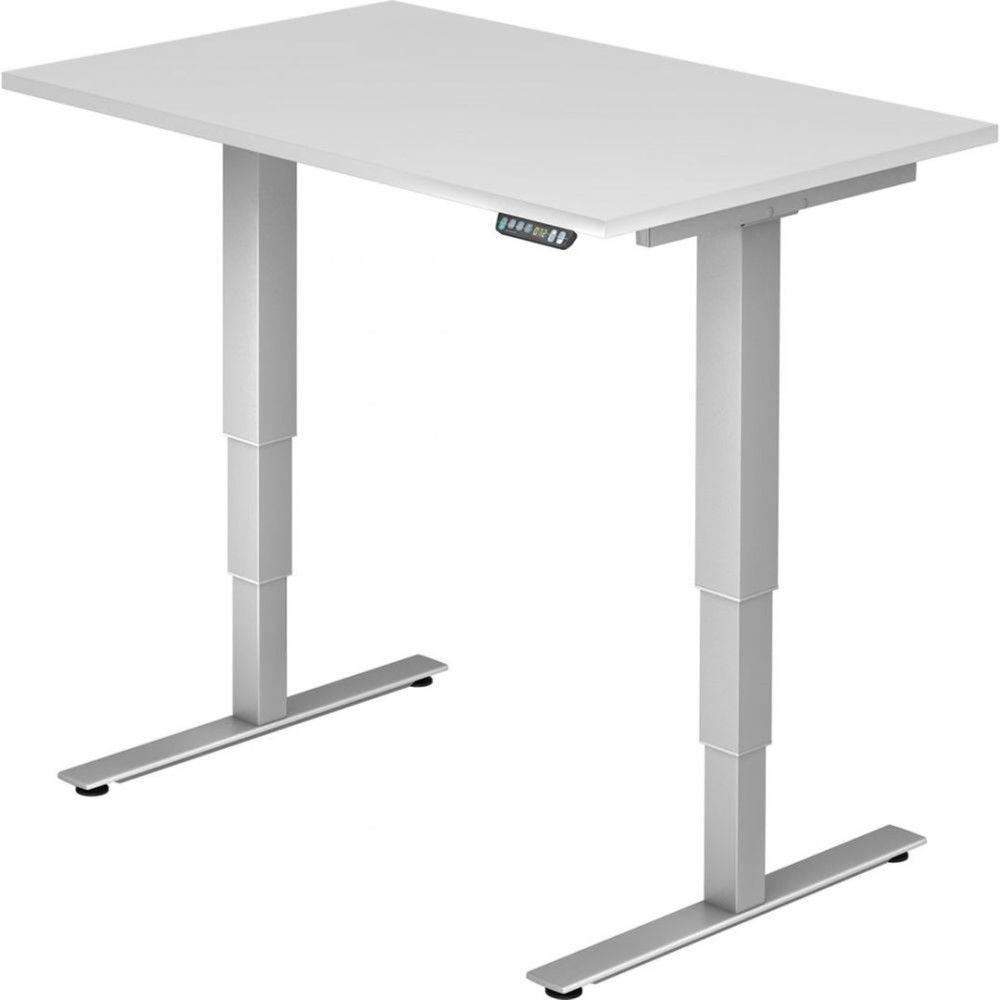 Bureau assis-debout électrique Barbara II / Blanc / Longueur 120 cm