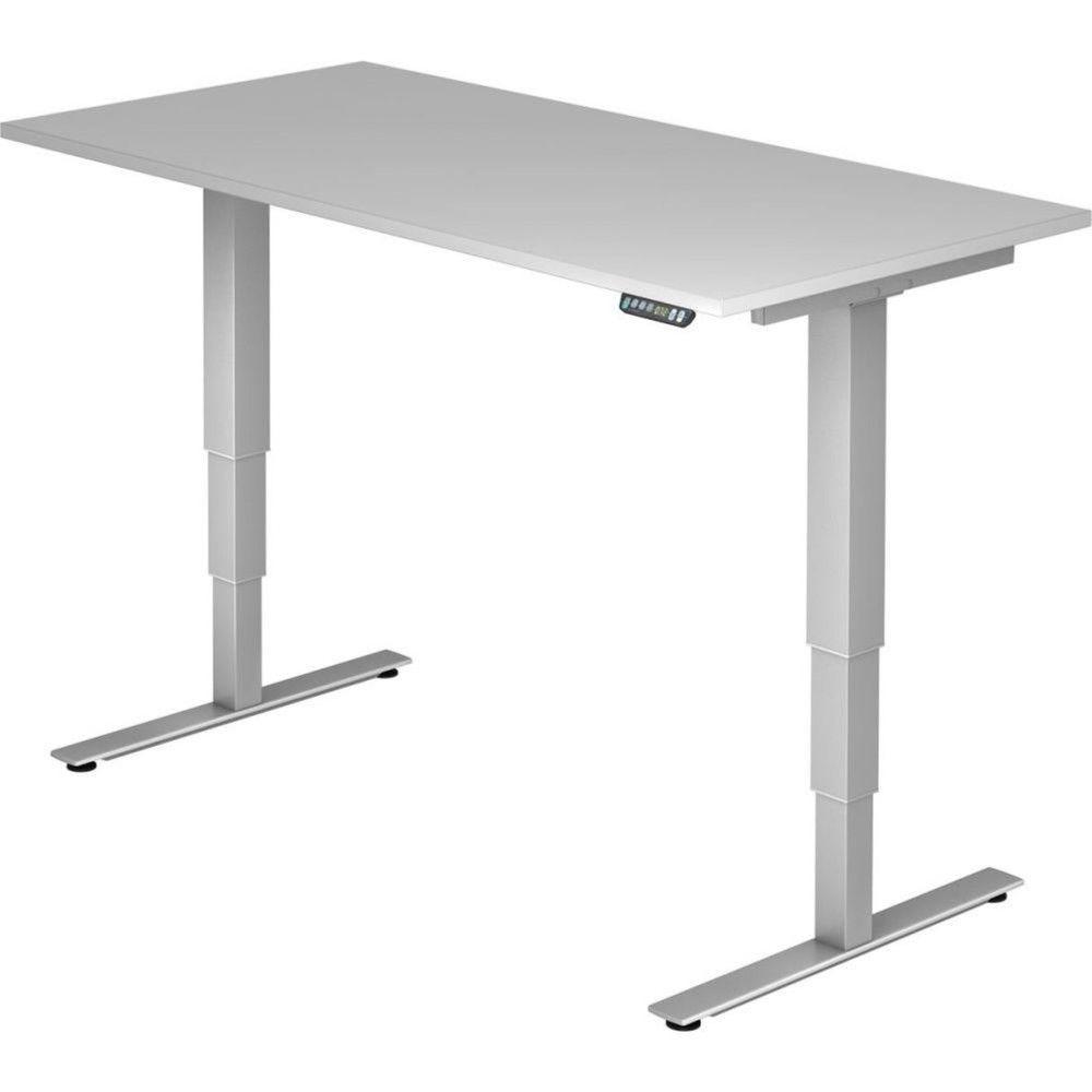 Bureau assis-debout électrique Barbara II / Gris / Longueur 160 cm