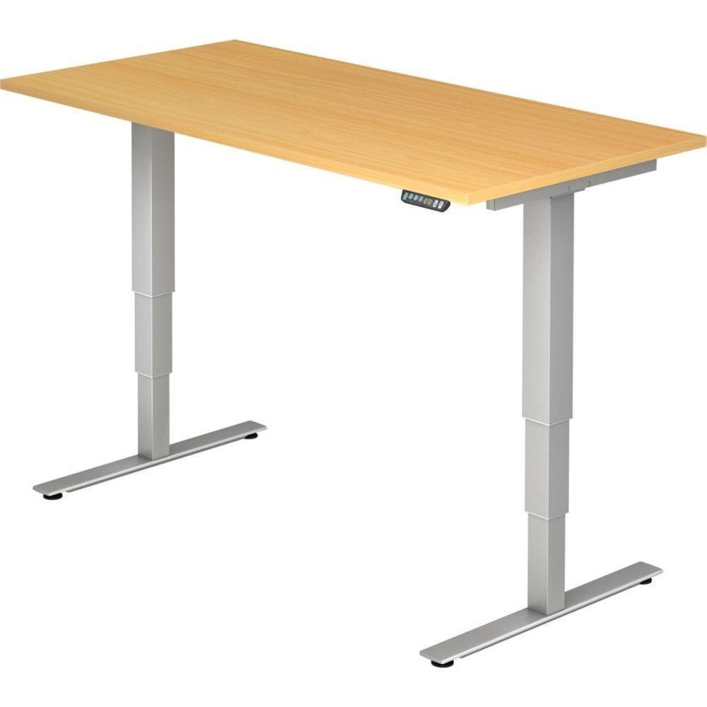 Bureau assis-debout électrique Barbara II / Hêtre / Longueur 160 cm