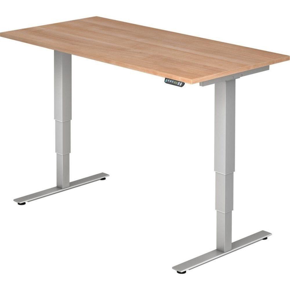 Bureau assis-debout électrique Barbara II / Noyer / Longueur 160 cm