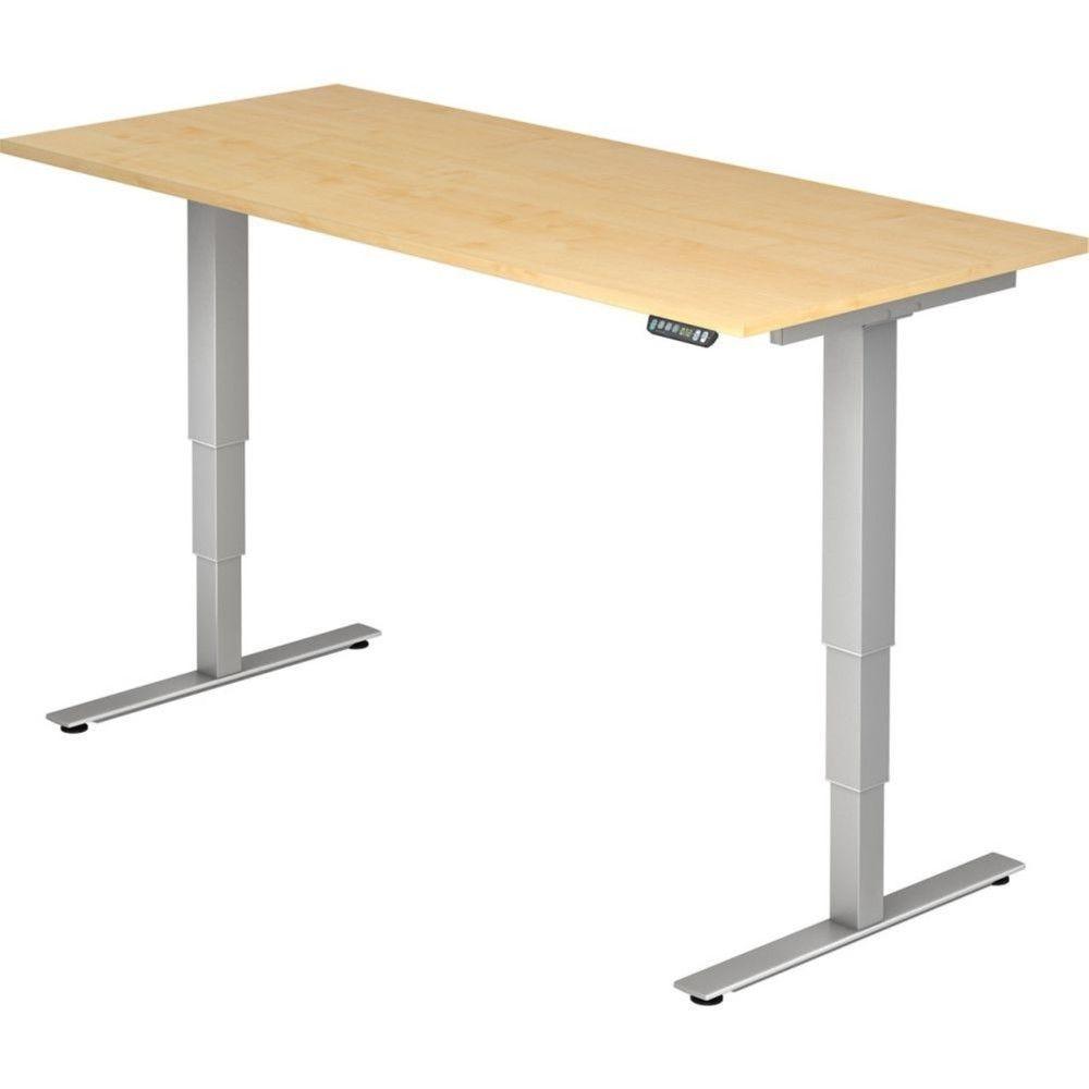 Bureau assis-debout électrique Barbara II / Erable / Longueur 180 cm