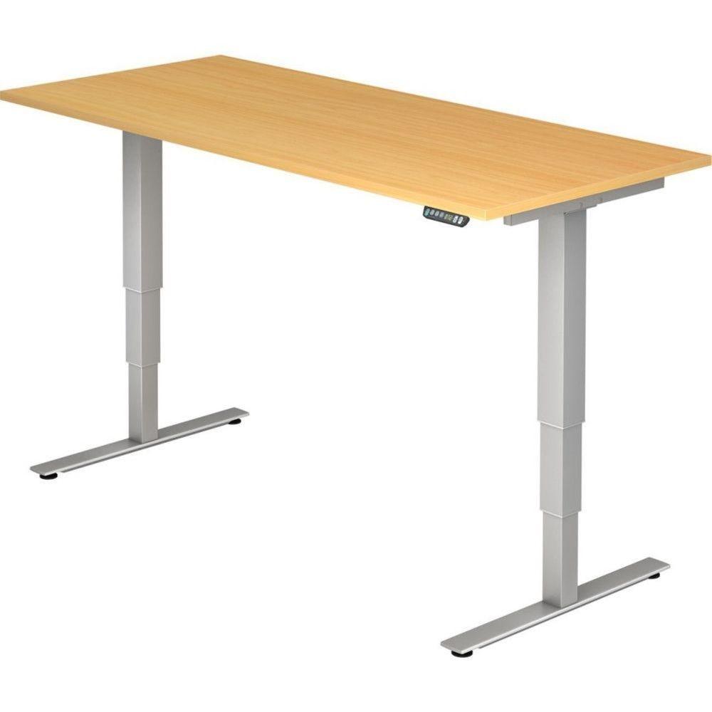 Bureau assis-debout électrique Barbara II / Hêtre / Longueur 180 cm