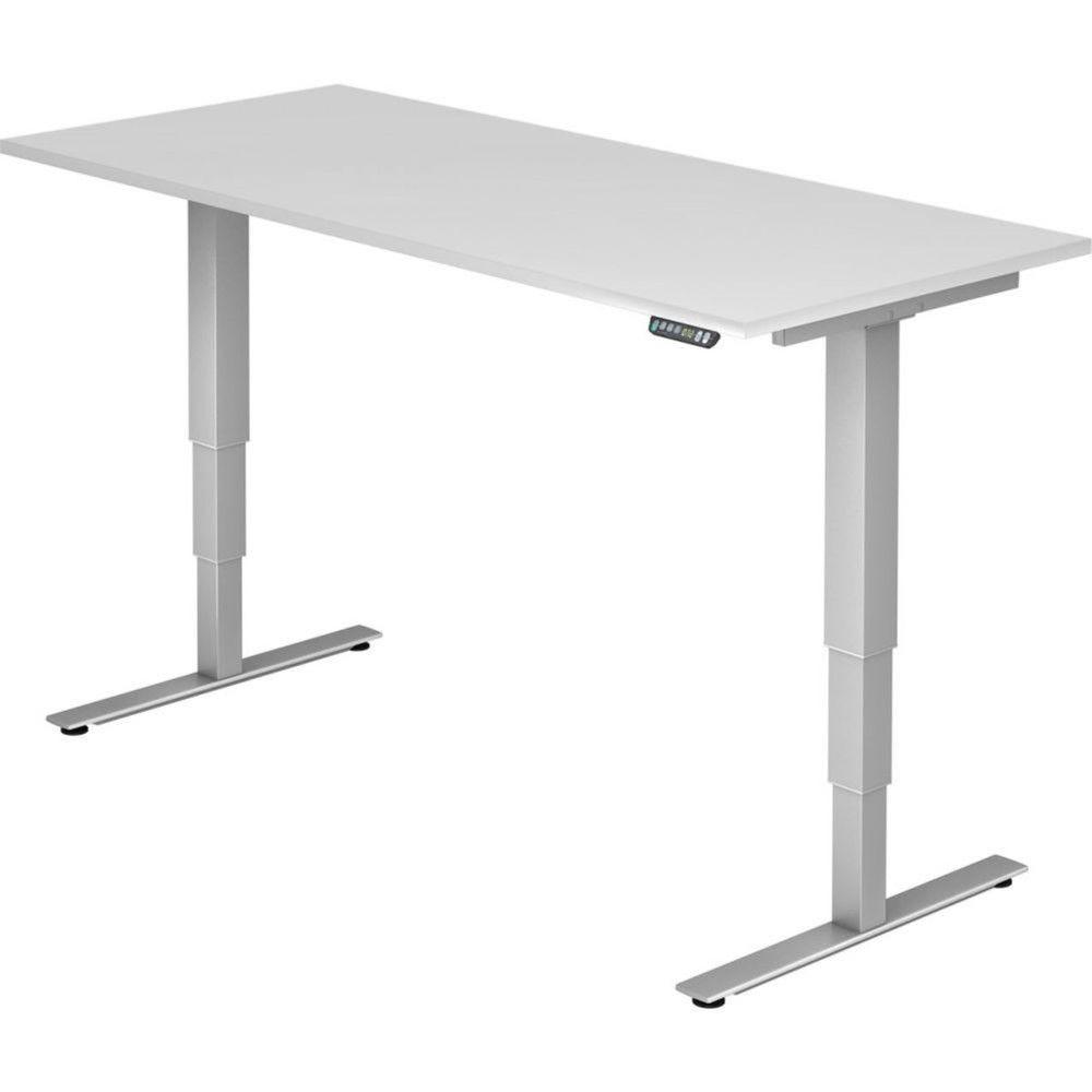 Bureau assis-debout électrique Barbara II / Blanc / Longueur 180 cm