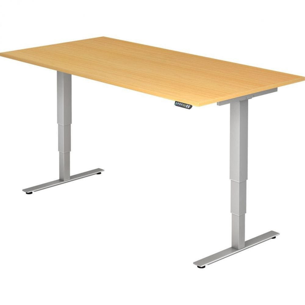 Bureau assis-debout électrique Barbara II / Hêtre / Longueur 200 cm