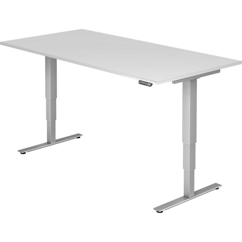 Bureau assis-debout électrique Barbara II / Blanc / Longueur 200 cm