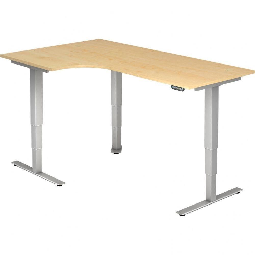 Bureau assis-debout électrique Barbara II / Erable / Longueur 200 avec angle