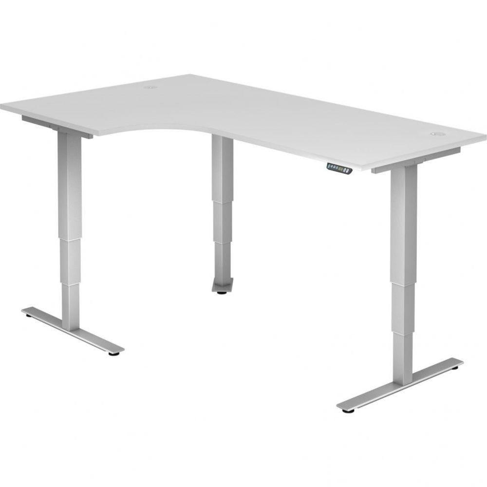 Bureau assis-debout électrique Barbara II / Blanc / Longueur 200 avec angle