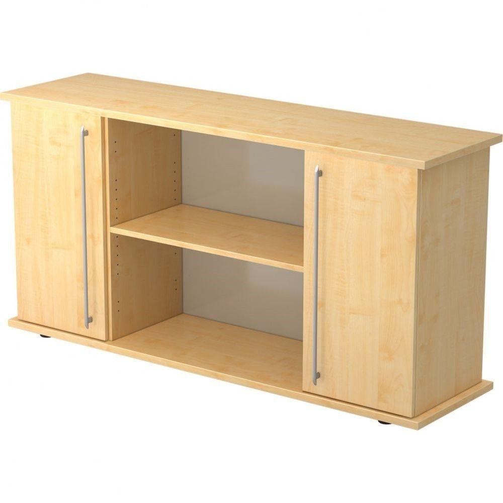 Armoire basse de bureau Lilly II / Erable / Poignée droite en plastique
