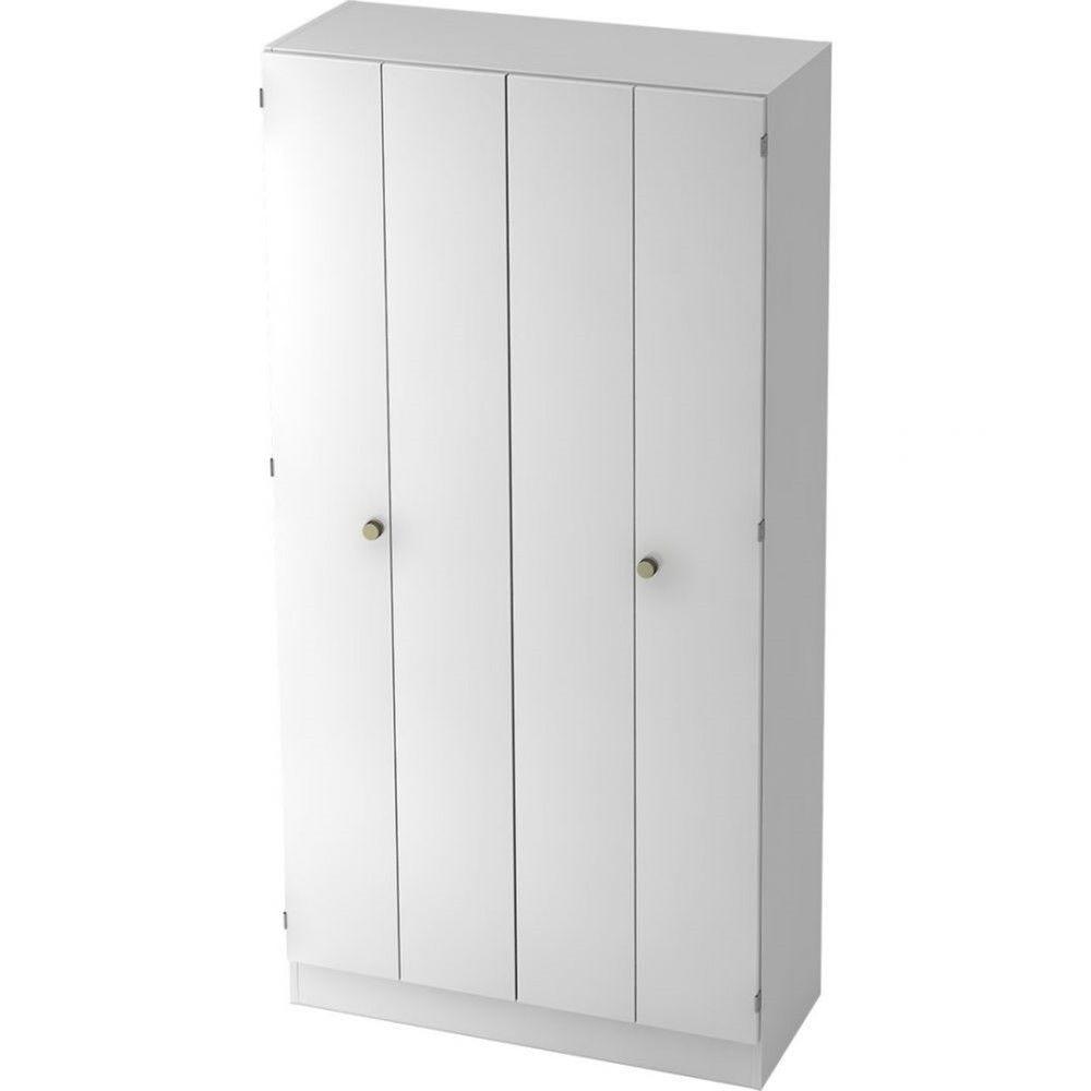 Armoire à portes pliantes Gaël / Blanc