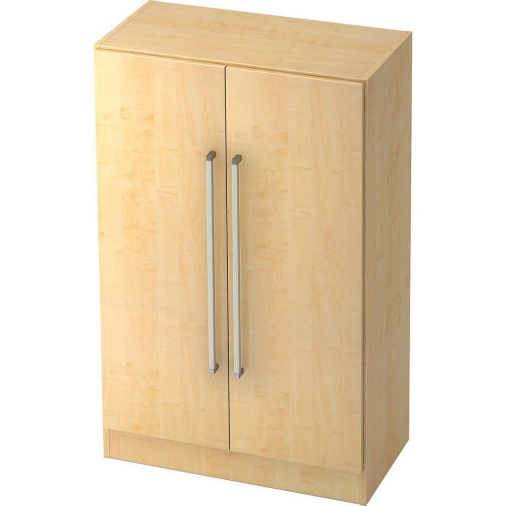 Armoire de bureau contemporaine Rafael / Erable / Poignée droite en métal