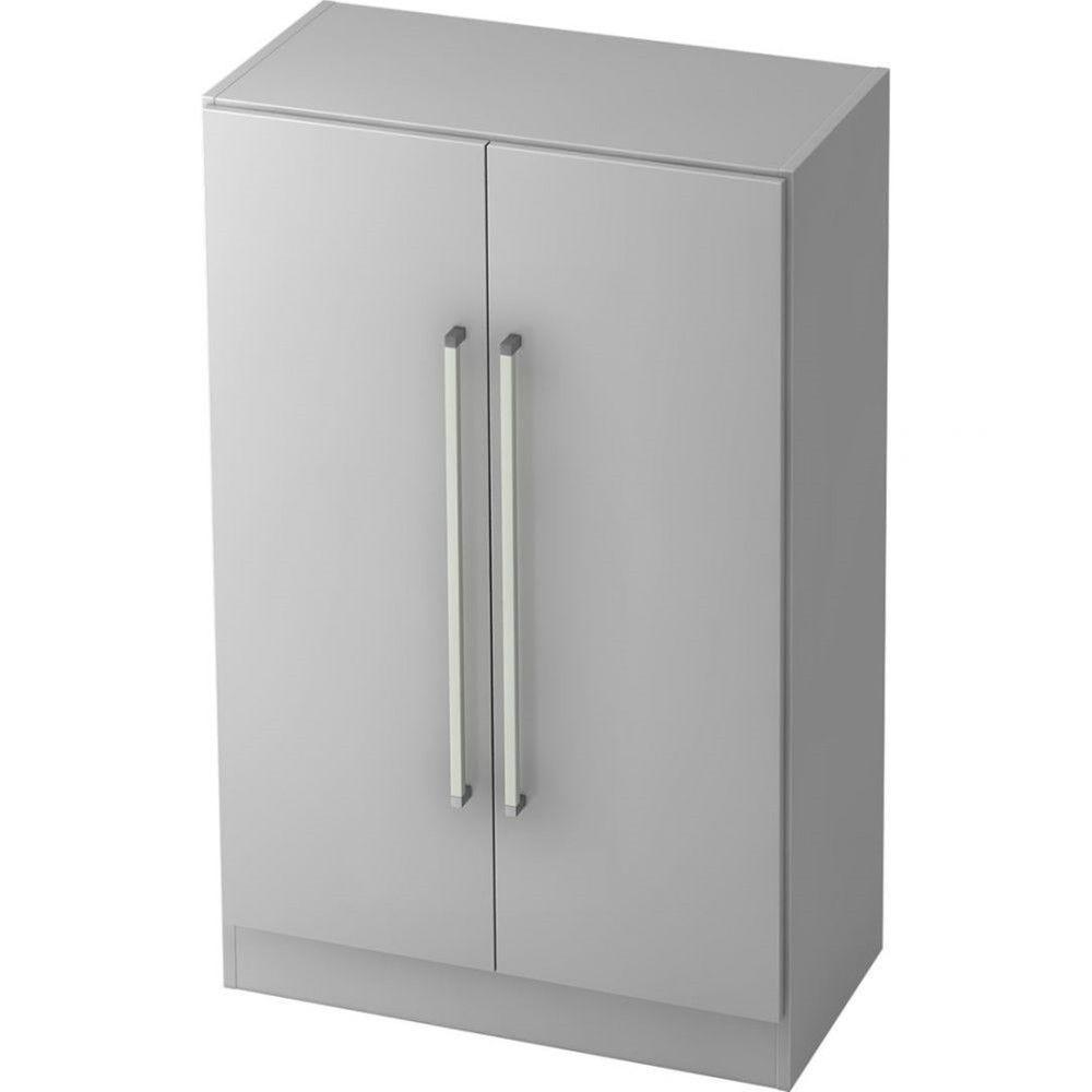 Armoire de bureau contemporaine Rafael / Gris / Poignée droite en métal