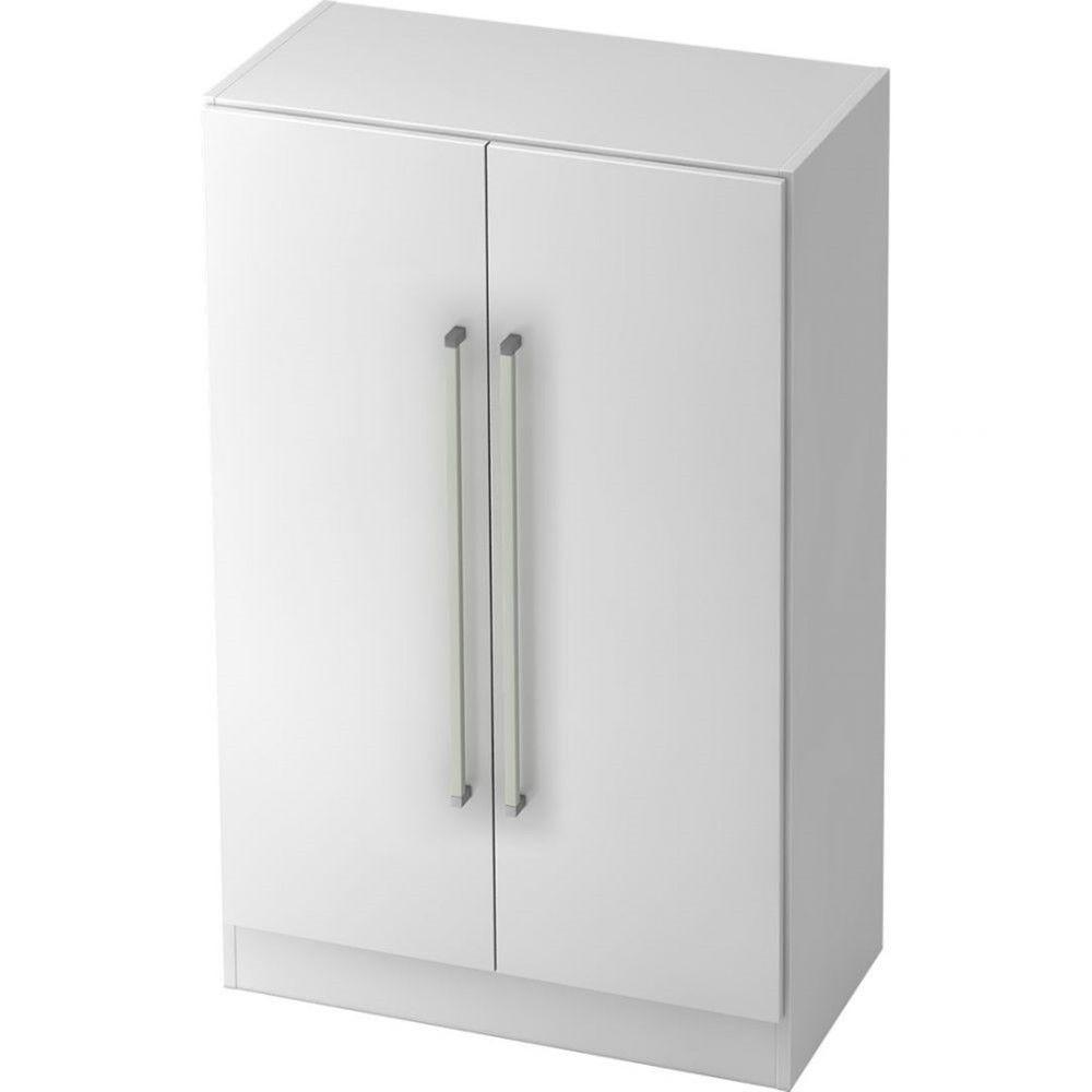 Armoire de bureau contemporaine Rafael / Blanc / Poignée droite en métal
