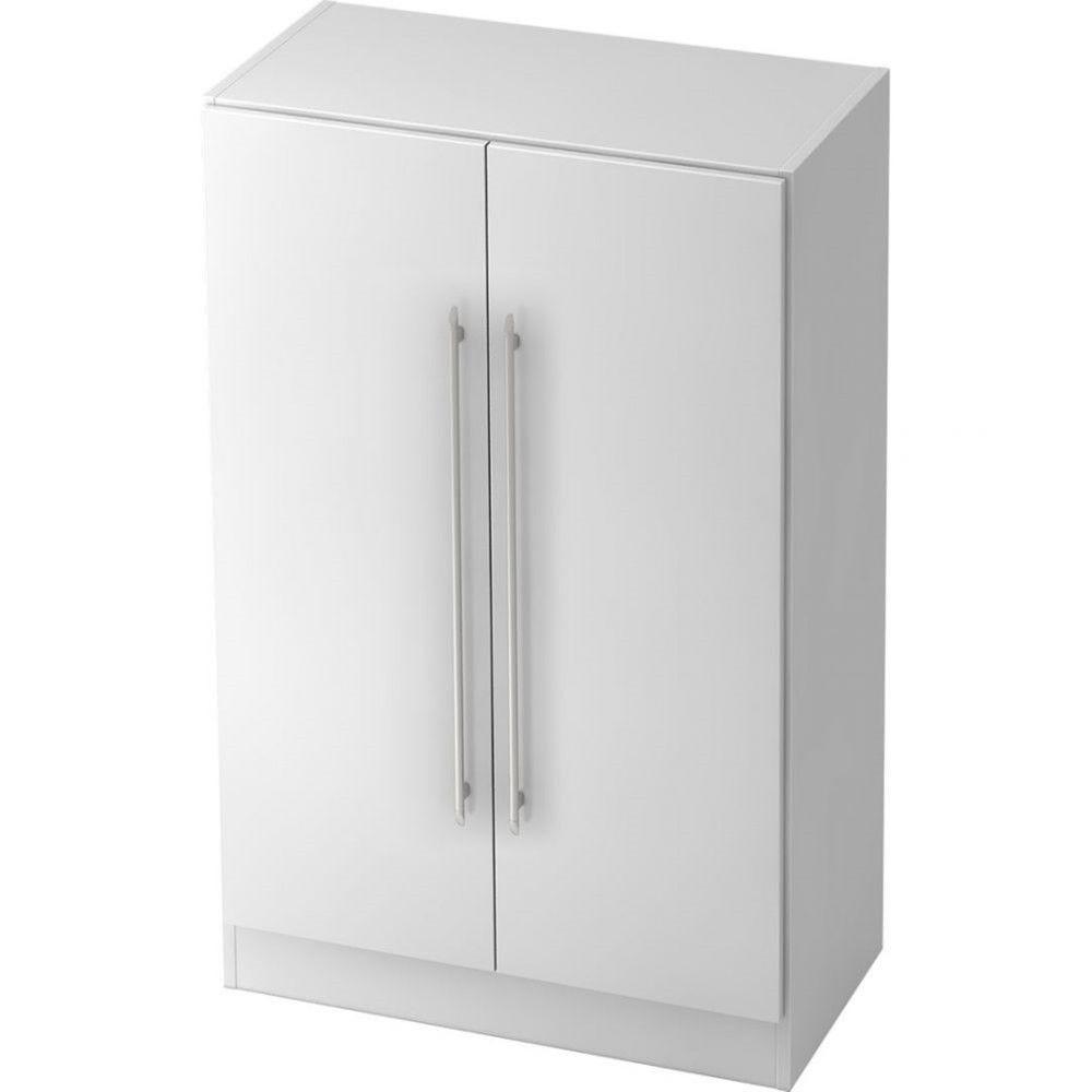 Armoire de bureau contemporaine Rafael / Blanc / Poignée droite en plastique