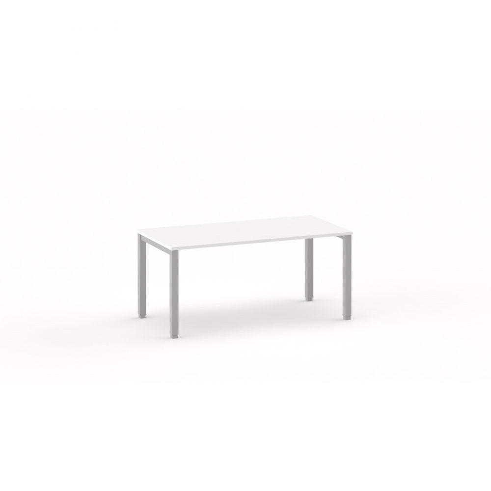 Bureau droit individiuel Mario / Blanc / Longueur 160 cm / Piétement blanc