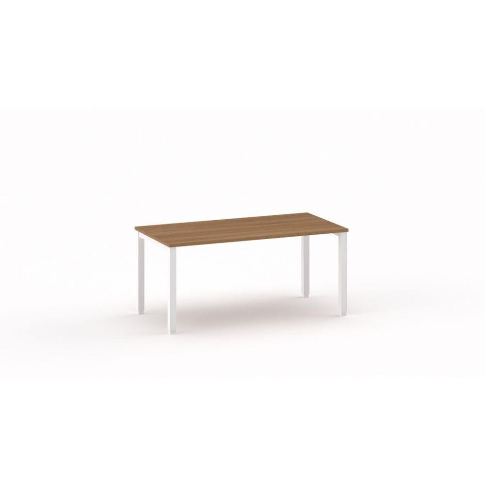 Bureau droit individiuel Mario / Poirier / Longueur 160 cm / Piétement argenté