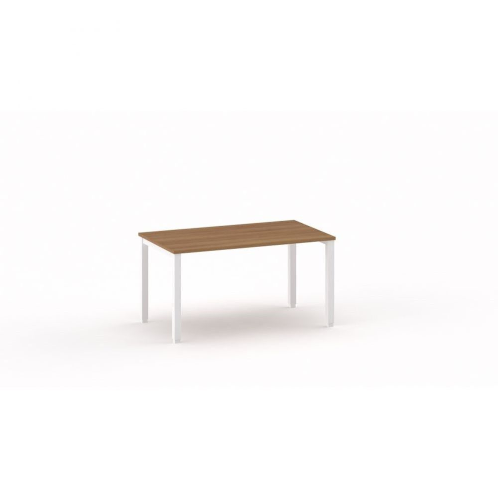 Bureau droit individiuel Mario / Poirier / Longueur 140 cm / Piétement argenté